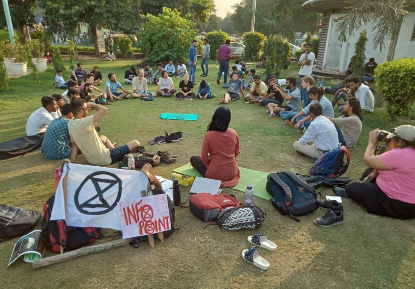 Discussion de groupes XR à Chennai, Inde