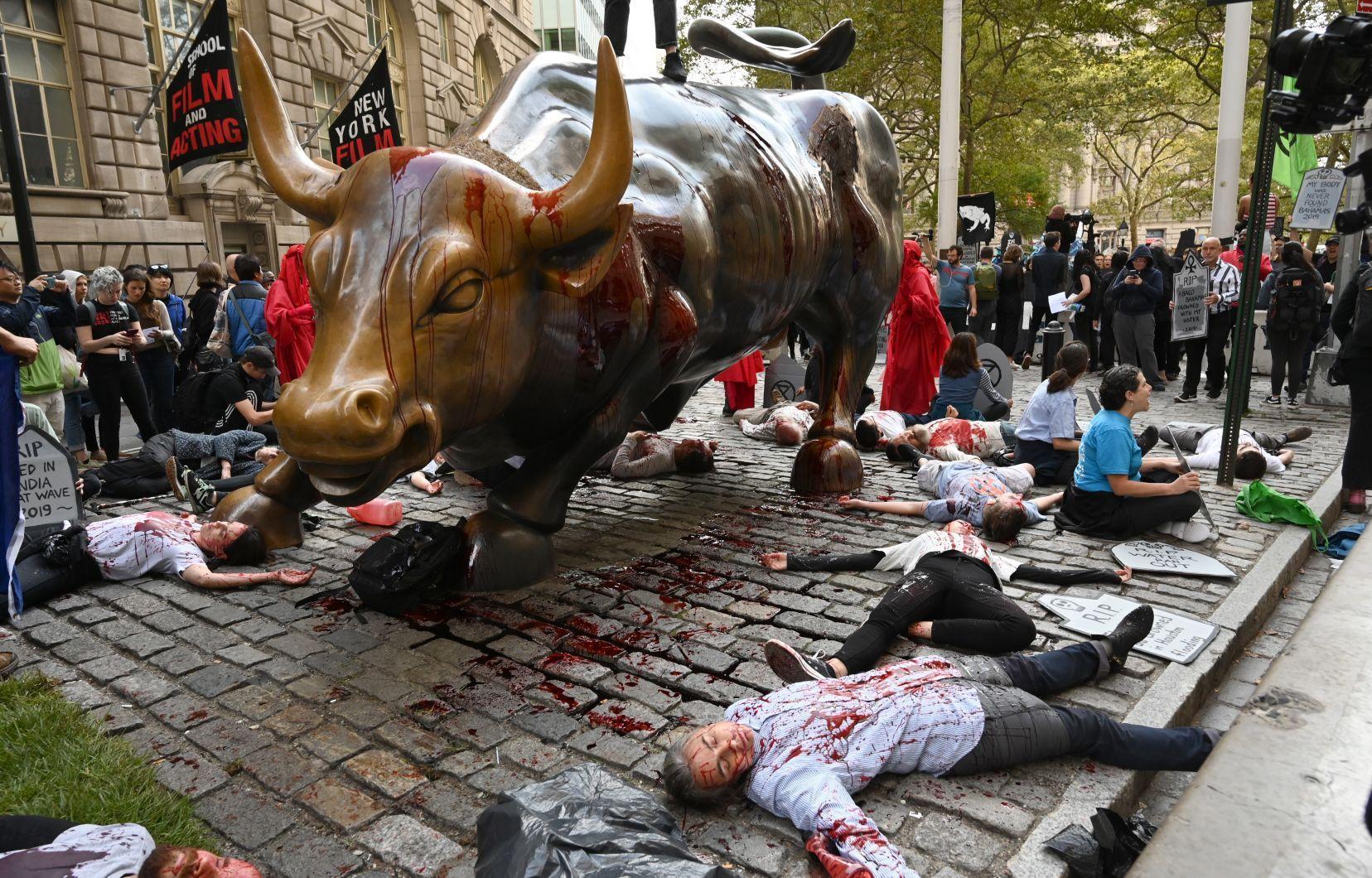 Le capitalisme tue : le message des rebelles de Wall Street, à New York